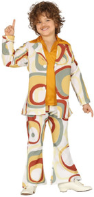 Boys 70's Disco Suit Fancy Dress Costume