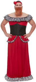 Mens Bearded Lady Fancy Dress Costume
