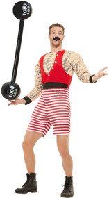 Mens Deluxe Circus Strongman Fancy Dress Costume