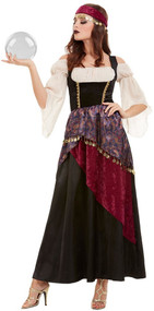 Ladies Deluxe Unfortunate Teller Fancy Dress Costume