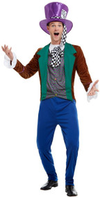 Mens Classy Hatter Fancy Dress Costume