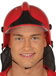 Adult Firefighter Fancy Dress Helmet