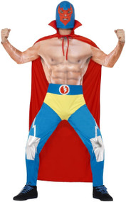 Mens Mexican Wrestler Fancy Dress Costume 1