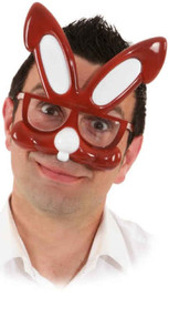 Adults Brown Bunny Fancy Dress Glasses