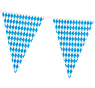 8m Blue/White Oktoberfest Party Bunting