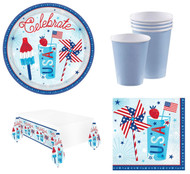 Complete 4th Of July Tableware Set