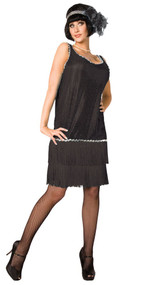Ladies 20's Flapper Fancy Dress Costume