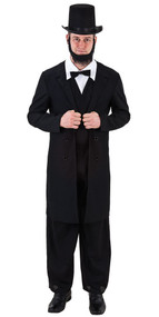 Mens Abraham Lincoln Fancy Dress Costume