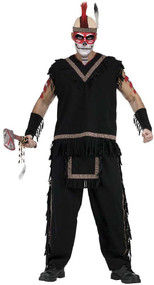 Mens Native Indian Fancy Dress Costume