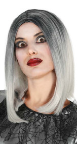 Ladies Ombre Grey Fancy Dress Wig