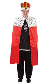 Adult Red King Fancy Dress Robe