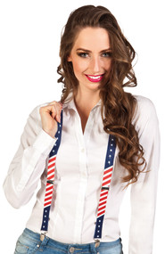 Adult USA Fancy Dress Braces
