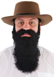 Adult Black Fancy Dress Costume Beard