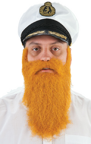 Adult Ginger Fancy Dress Costume Beard