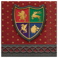 Medieval Throne Games Large Party Napkins