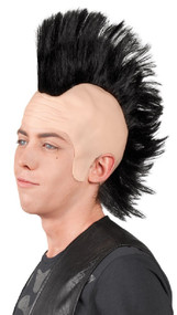 Adult Black Mohawk Fancy Dress Wig