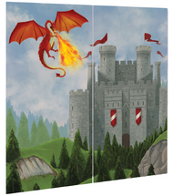 Medieval Dragon Castle Party Backdrop