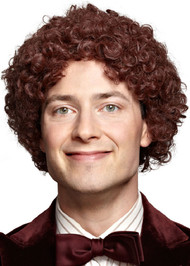 Adult Short Brown Afro Wig