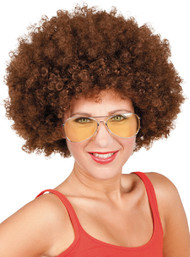 Adult Large Brown Afro Fancy Dress Wig