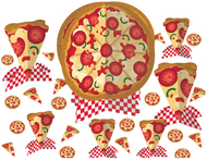 Pizza Party Table Decoration Kit