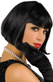 Ladies Black 1920s Flapper Wig