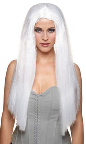 Ladies Long White Ghost Wig
