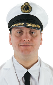 Mens Ship Captain Fancy Dress Hat