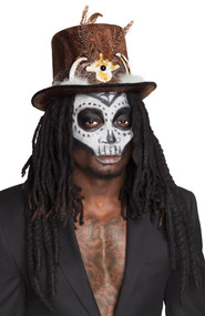 Adult Voodoo Hat with Dreadlocks