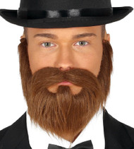 Mens Brown Facial Hair Accessory