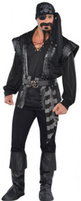 Mens Sexy Dark Pirate Fancy Dress Costume