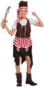 Girls Pirate Buccaneer Fancy Dress Costume