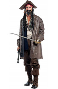 Mens Deluxe Pirate Jack Fancy Dress Costume