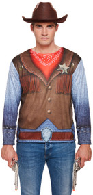 Mens Cowboy Fancy Dress Top