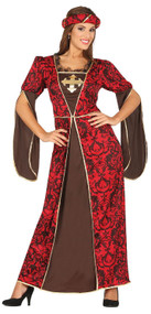 Ladies Medieval Fancy Dress Costume