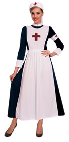 Ladies Vintage Nurse Fancy Dress Costume