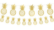 Tropical Gold Pineapple Party Bunting Decoration