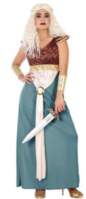 Ladies Queen Medieval Fancy Dress Costume