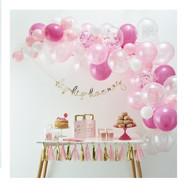 Pink Balloon Arch Decoration