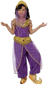 Girls Purple Arabian Fancy Dress Costume