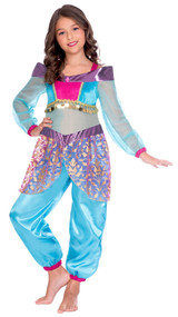 Girls Arabian Genie Fancy Dress Costume