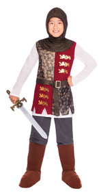 Boys Deluxe Valiant Knight Fancy Dress Costume