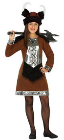 Girls Viking Queen Fancy Dress Costume