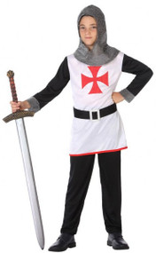 Boys White Knight Fancy Dress Costume