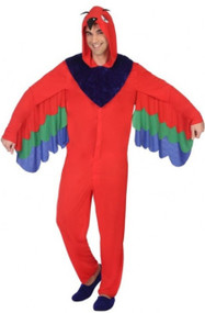 Mens Tropical Parrot Fancy Dress Costume