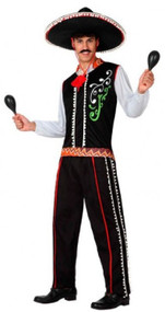 Mens Mexican Fancy Dress Costume 1