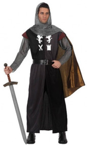 Mens Historical Knight Fancy Dress Costume