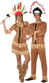 Couples Native Indian Fancy Dress Costumes