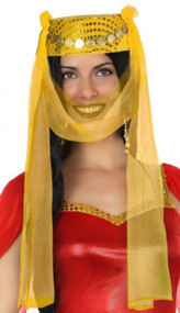 Ladies Gold Arabian Headdress