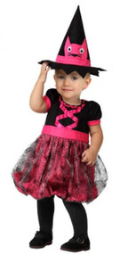 Baby Girls Pink Witch Fancy Dress Costume 1