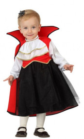 Baby Girls Vampire Cutie Fancy Dress Costume